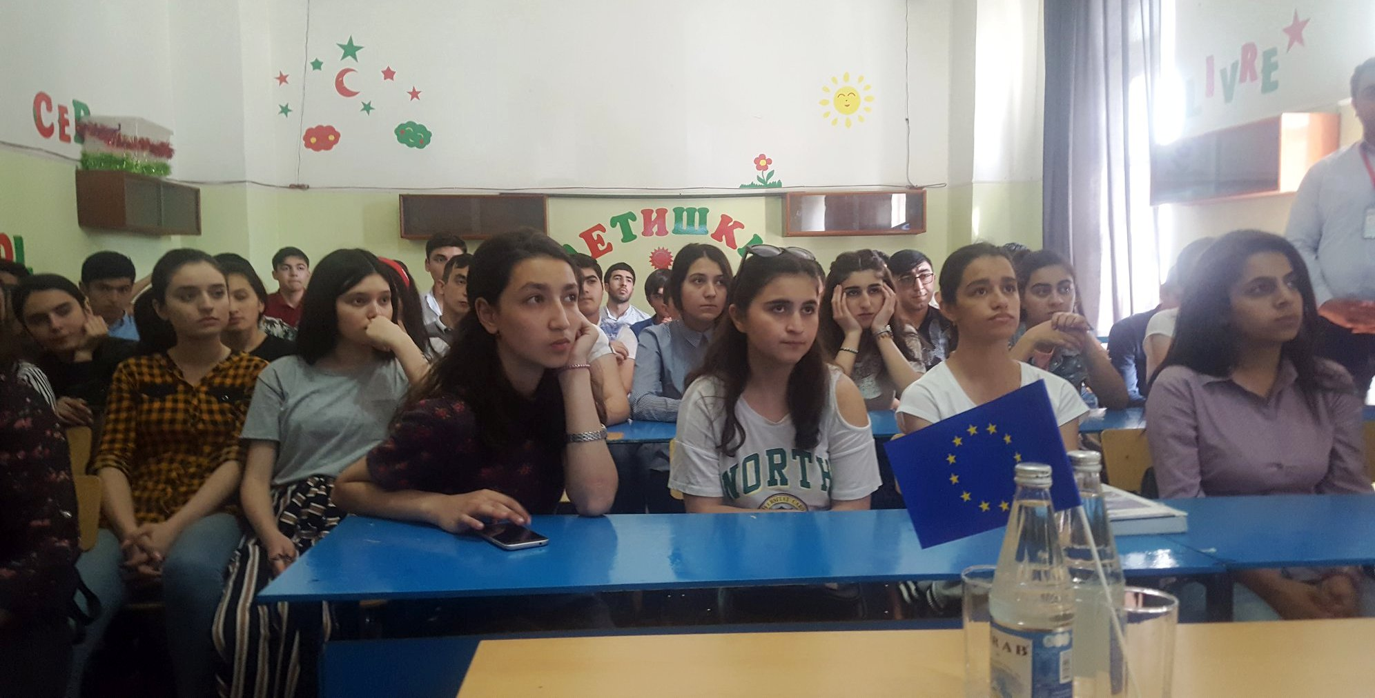 5 AZ 22May19 EU Day EUWIpresentations for graduates in the Small Academy of Sciences in Ganja1