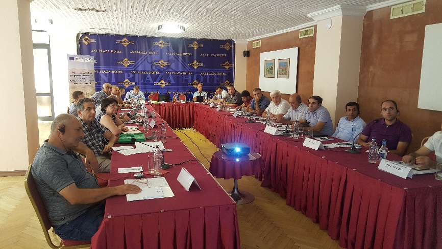 A new step towards River Basin Management Plan in Armenia: Training workshop on quantitative pressures and impacts of human activities on water resources